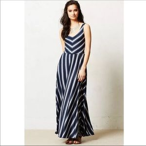 lovely Puella maxi dress shades of blue & white